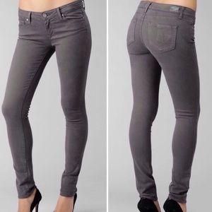 PAIGE skyline Skinny Jeans Gray 25